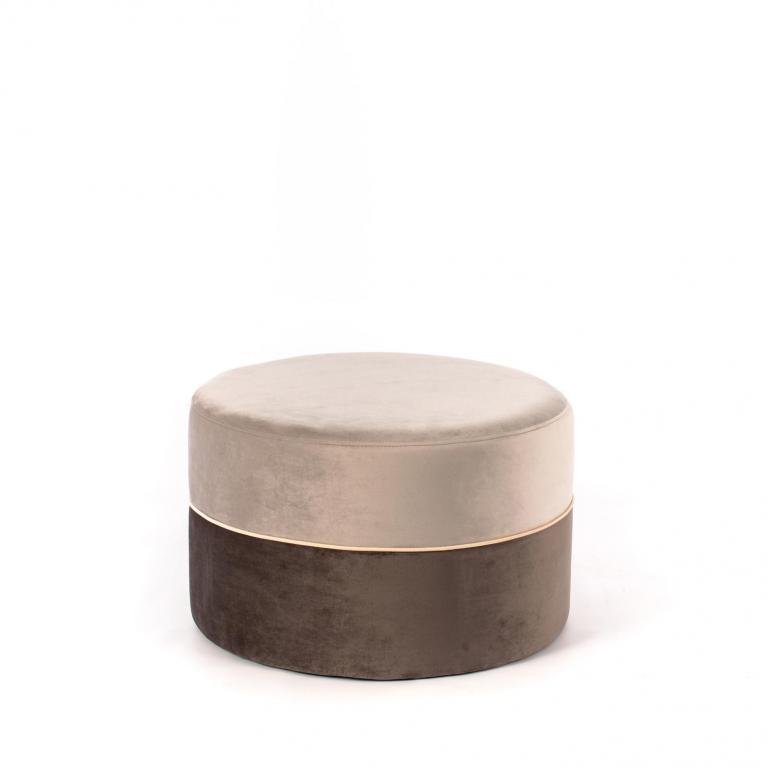 pouff (62 x 62 cm) design twist olivia