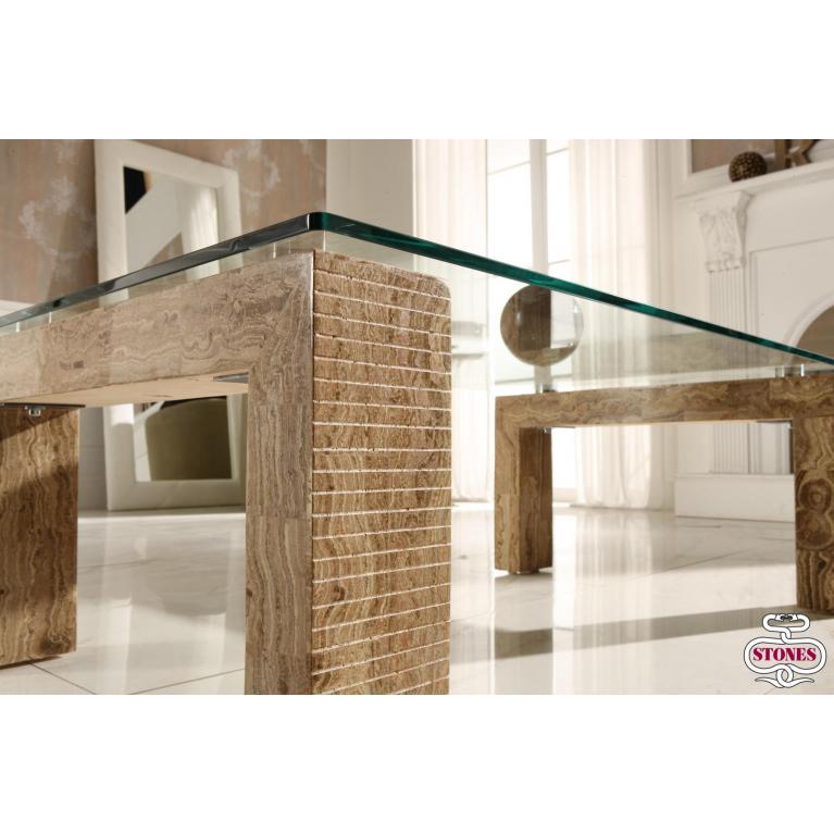 tavolino (120 x 70 cm) stones millerighe