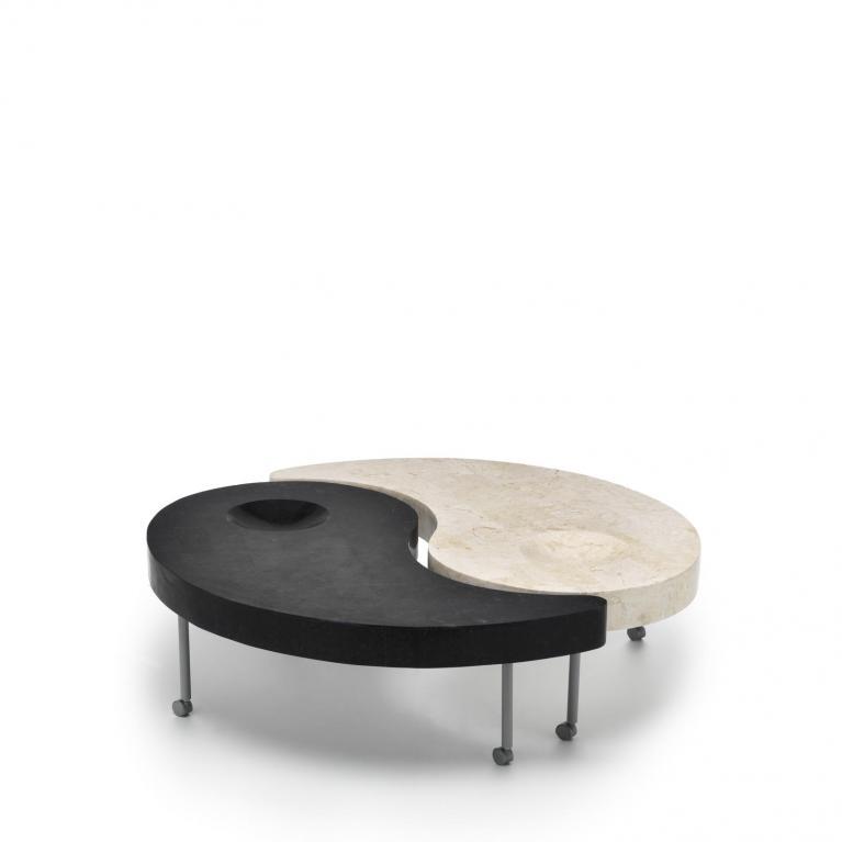 tavolino (108 x 108 cm) stones yin & yang