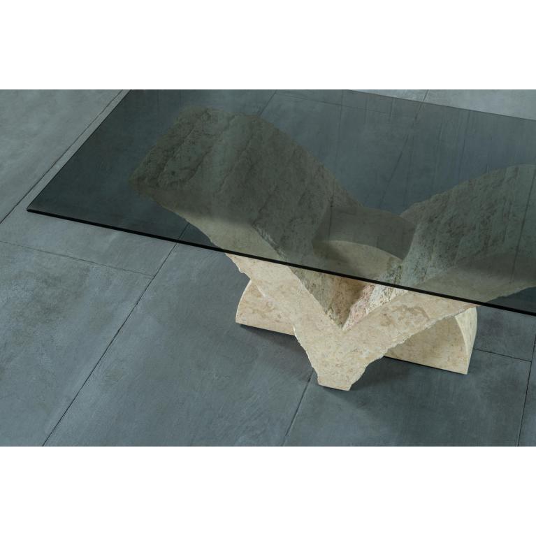 tavolino (120 x 70 - fumè) stones papillon