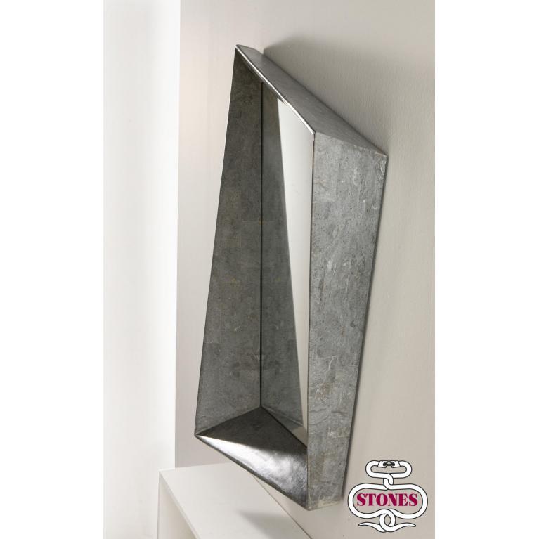 specchio da parete (117 x 91 cm) stones diamond