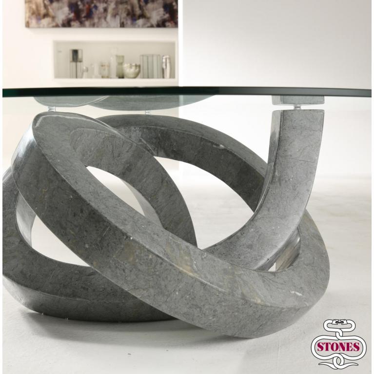 tavolino (90 x 90 cm) stones loop
