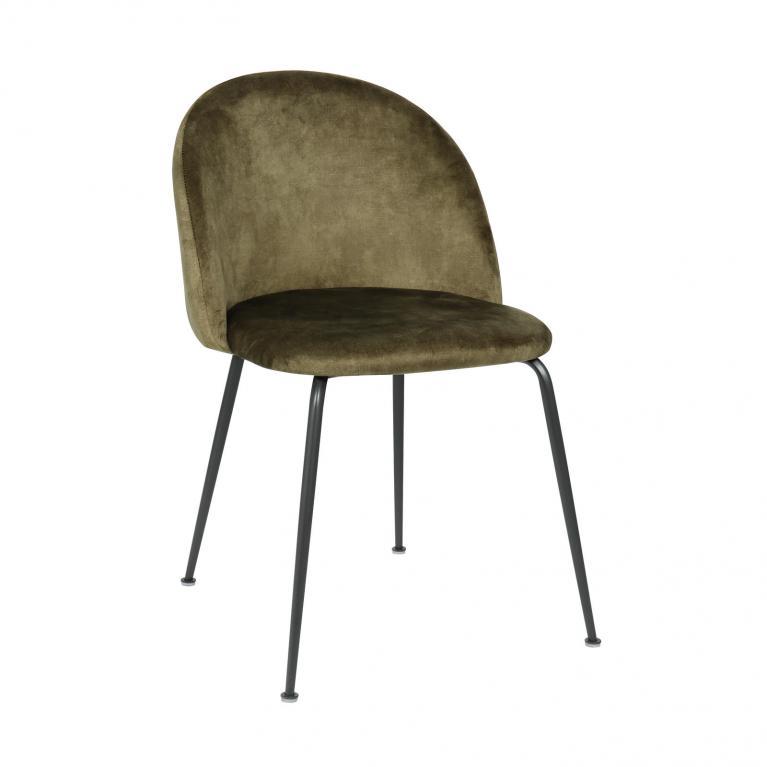 sedia in velluto design twist calypso