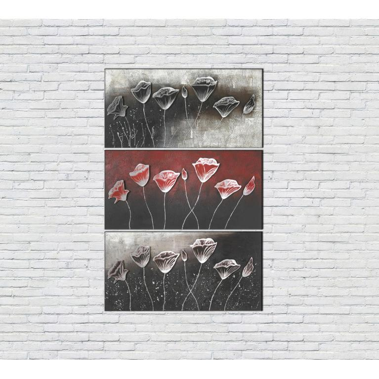 olio su tela (70 x 140 cm) stones