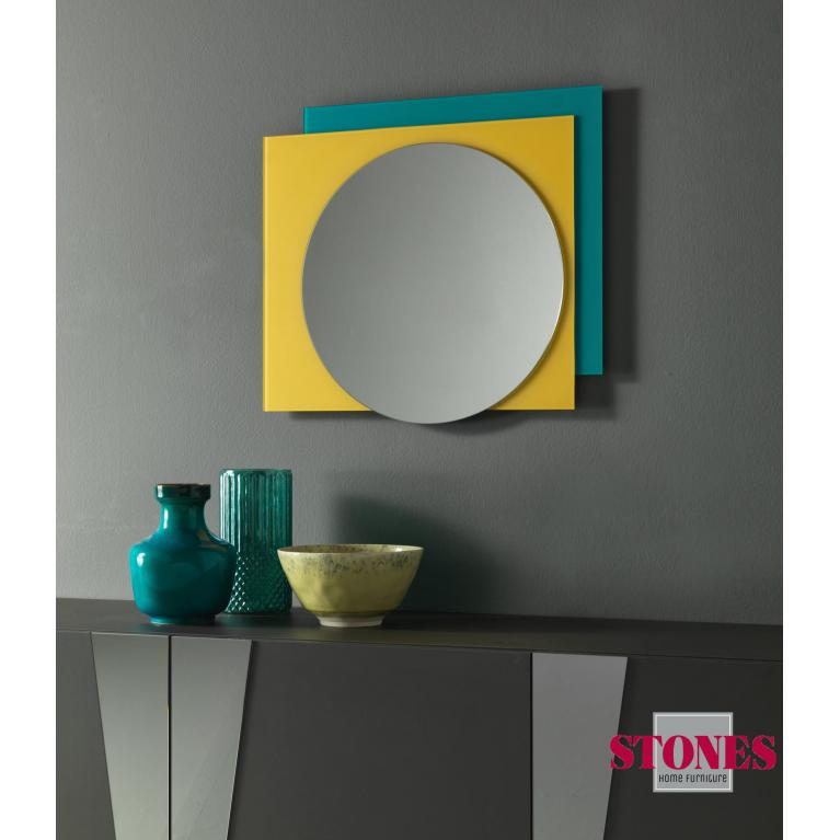 specchio da parete (70 x 57 cm) stones shanti