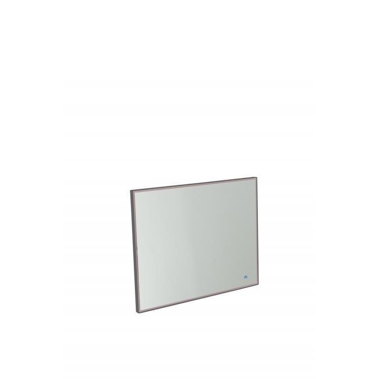 specchio da parete con luce l (100 x 80 cm) stones lumen