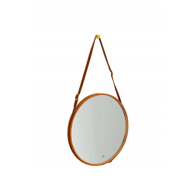 specchio da parete con luce l (70 x 70 cm) stones stilb