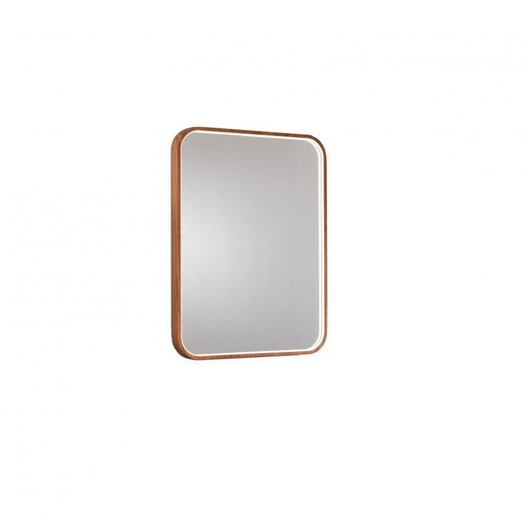 specchio da parete con luce l (80 x 60 cm) stones ohm