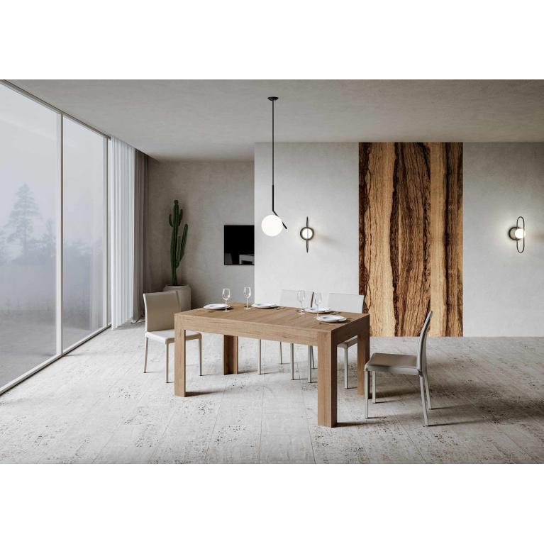 Tavolo Bibi piano quercia 90x160 + 65