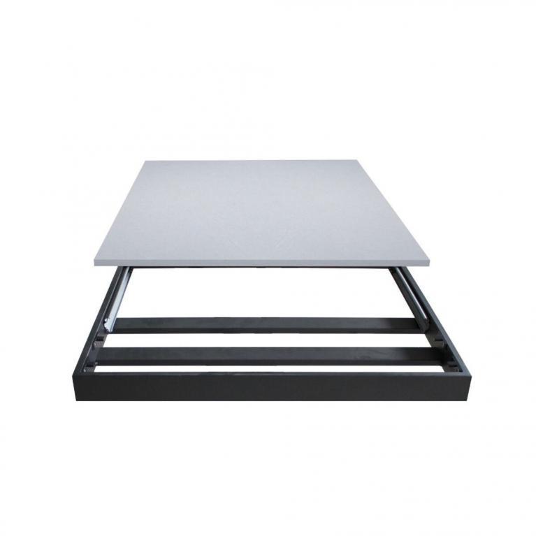 Tavolo Mirhi piano Marmo 90x160 + 60  telaio Antracite