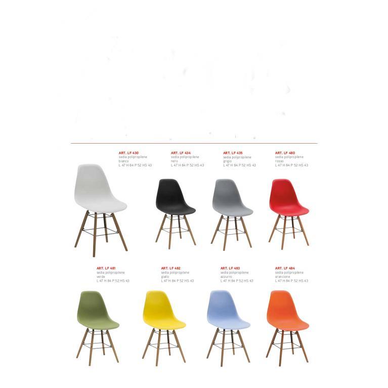 Sedie in polipropilene vari colori