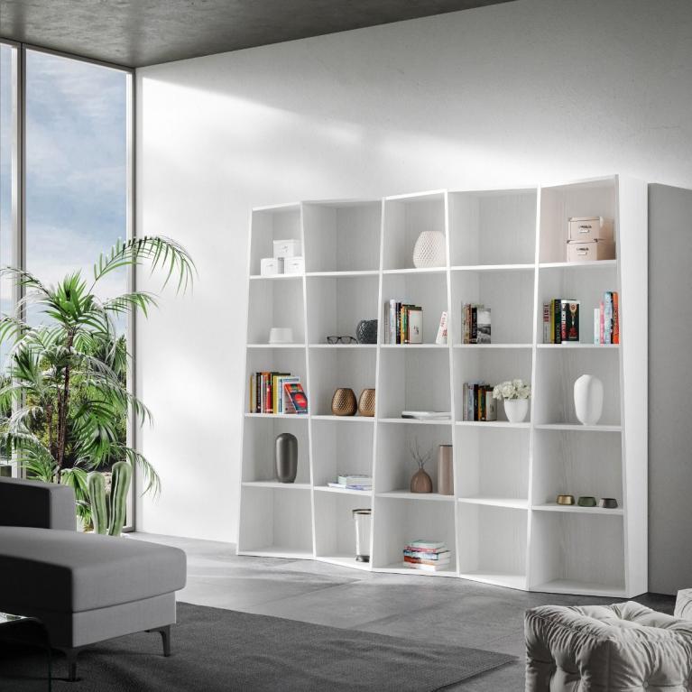 Libreria Trek 5 elementi Bianco Frassino