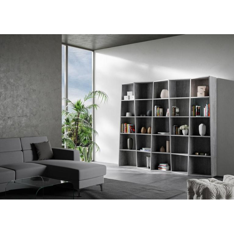 Libreria Trek 5 elementi Cemento
